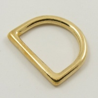25mm 1'' Cast Brass Deep D Ring